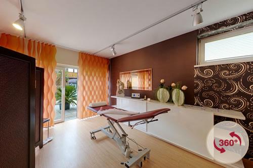 Massageraum ausstattung  360° Bilder, Hotel Schladming Vitaler Landauerhof